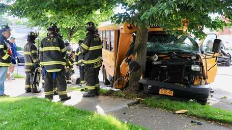 Three children were hurt in a mini-school bus