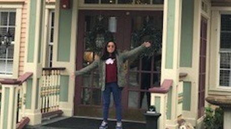 Kidsday reporter Kimberly Lopez at her family's restaurant,