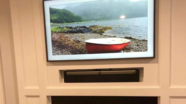 The Frame TV by Samsung decorates a