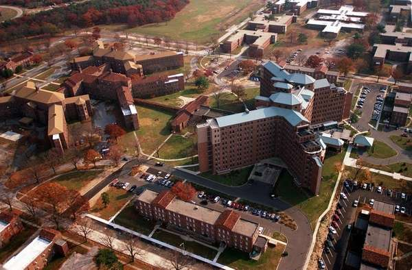 An aerial view of the Pilgrim State Psychiatric