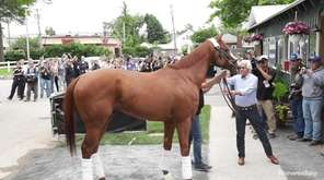 On Wednesday, Justify arrived Wednesday at Belmont Park