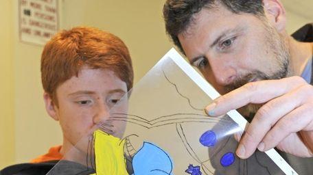David Reinharz, 12, of Rockville Centre, talks about