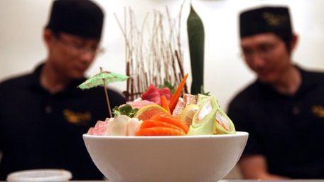 Food or art? At Merrick Sushi Bar &