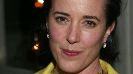 Kate Spade attends a gallery exhibition at Fred