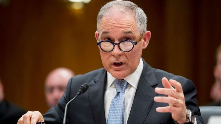 Environmental Protection Agency Administrator Scott Pruitt testifies before