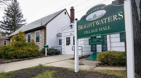 The Village of Brightwaters Vilage Hall is shown