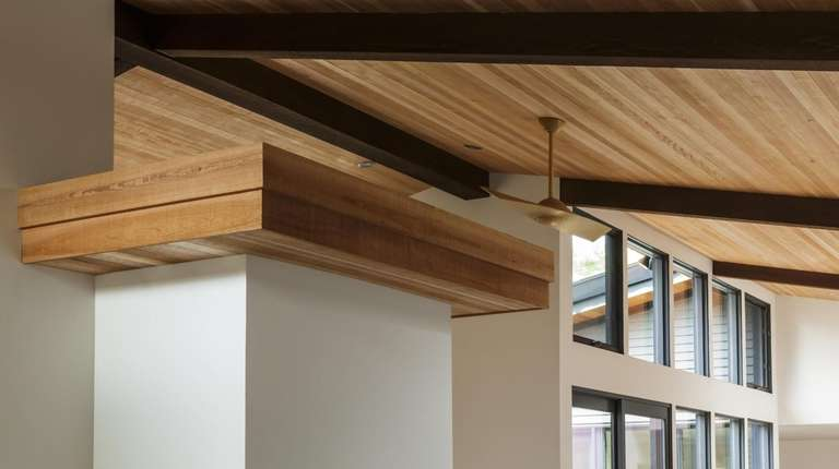 A wood covering helps bring some stylish attention