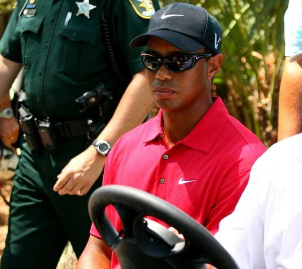 Tiger Woods is driven off the golf course