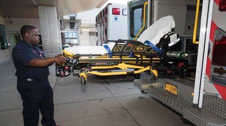 Shawn Edouard, a paramedic supervisor at Stony Brook