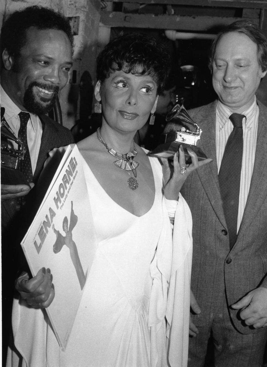 Grammy Award winner Lena Horne, center, is flanked