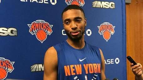 Villanova's Mikal Bridges worked out for the Knicks