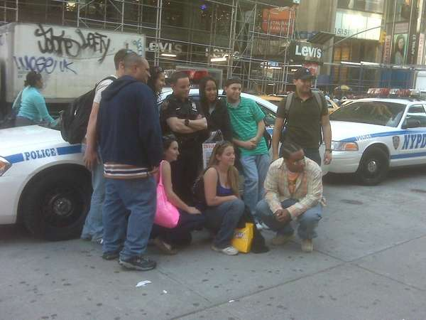 An hour after Times Square was reopened following