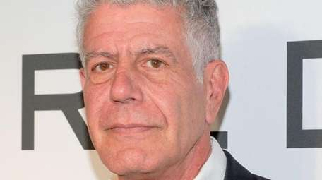 Chef Anthony Bourdain attends the 2018 Women in