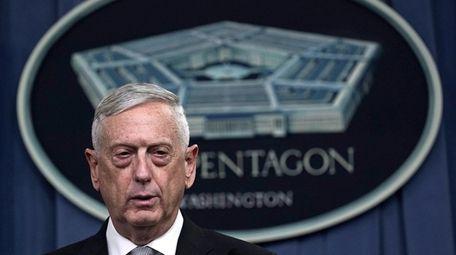 Defense Secretary Jim Mattis at the Pentagon in