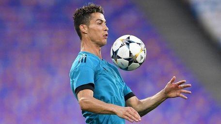 Portugal star Cristiano Ronaldo controls the ball during