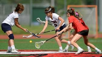 Cold Spring Harbor's Grace Tauckus, left, and Sophia