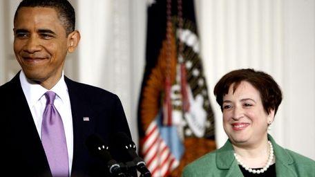 President Barack Obama introduces Solicitor General Elena Kagan,