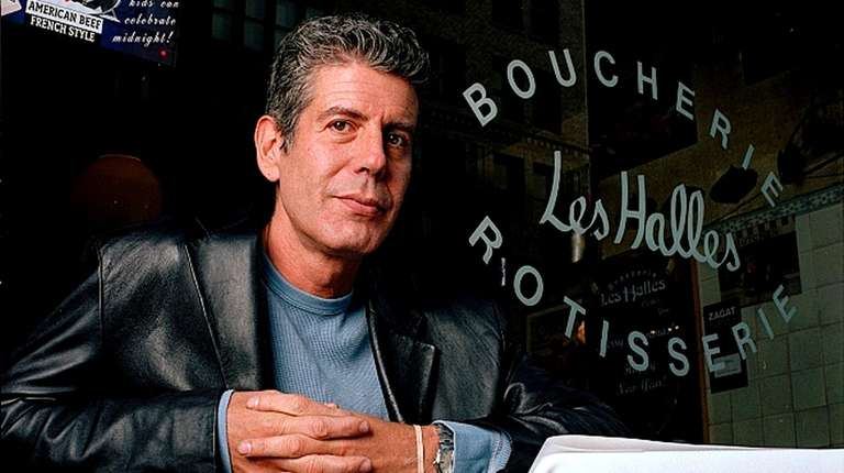 Anthony Bourdain in 2001, when he was the