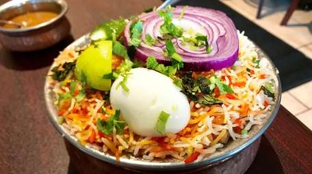 The Hyderabadi rice dish known as biryani is