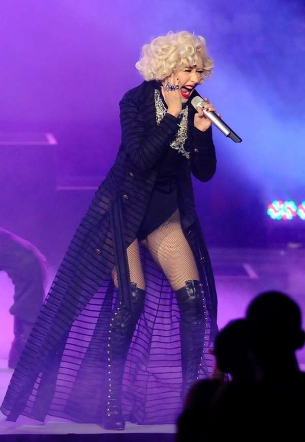 Christina Aguilera performs during