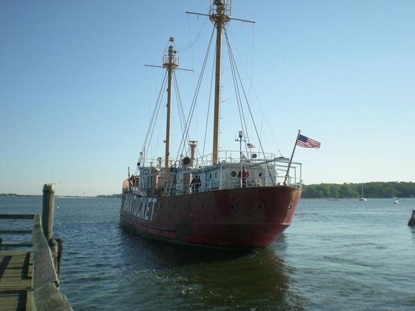 The Nantucket lightship set sail for Boston on