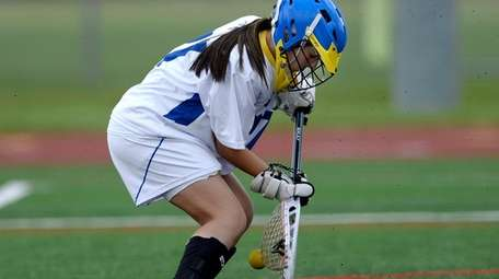 Mattituck-Southold's Claudia Hoeg makes a save in the