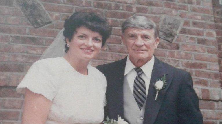 Joan Denaro Collins with her father, Nicholas Denaro