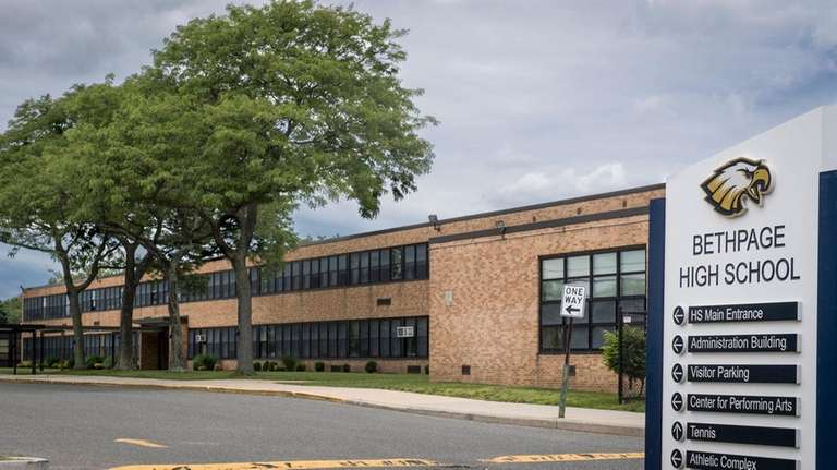Bethpage High School, where radon gas was detected