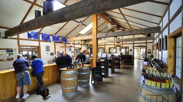 A wine tasting at the Swedish Hill Vineyard