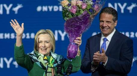 Hillary Clinton endorses Andrew M. Cuomo for governor