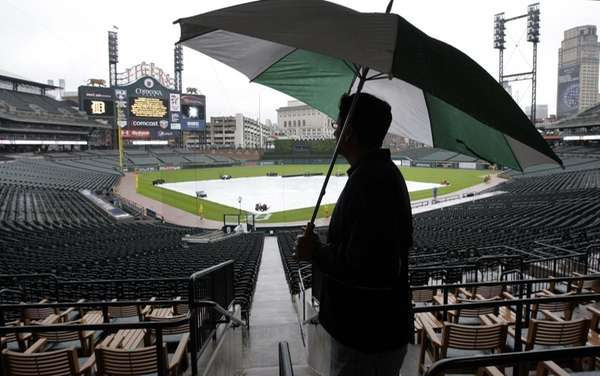 Dave Meriwether, of Paulding, Ohio looks out on
