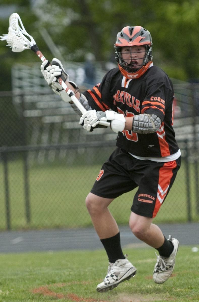 Hicksville #23 Brandon Gamblin looks to pass to