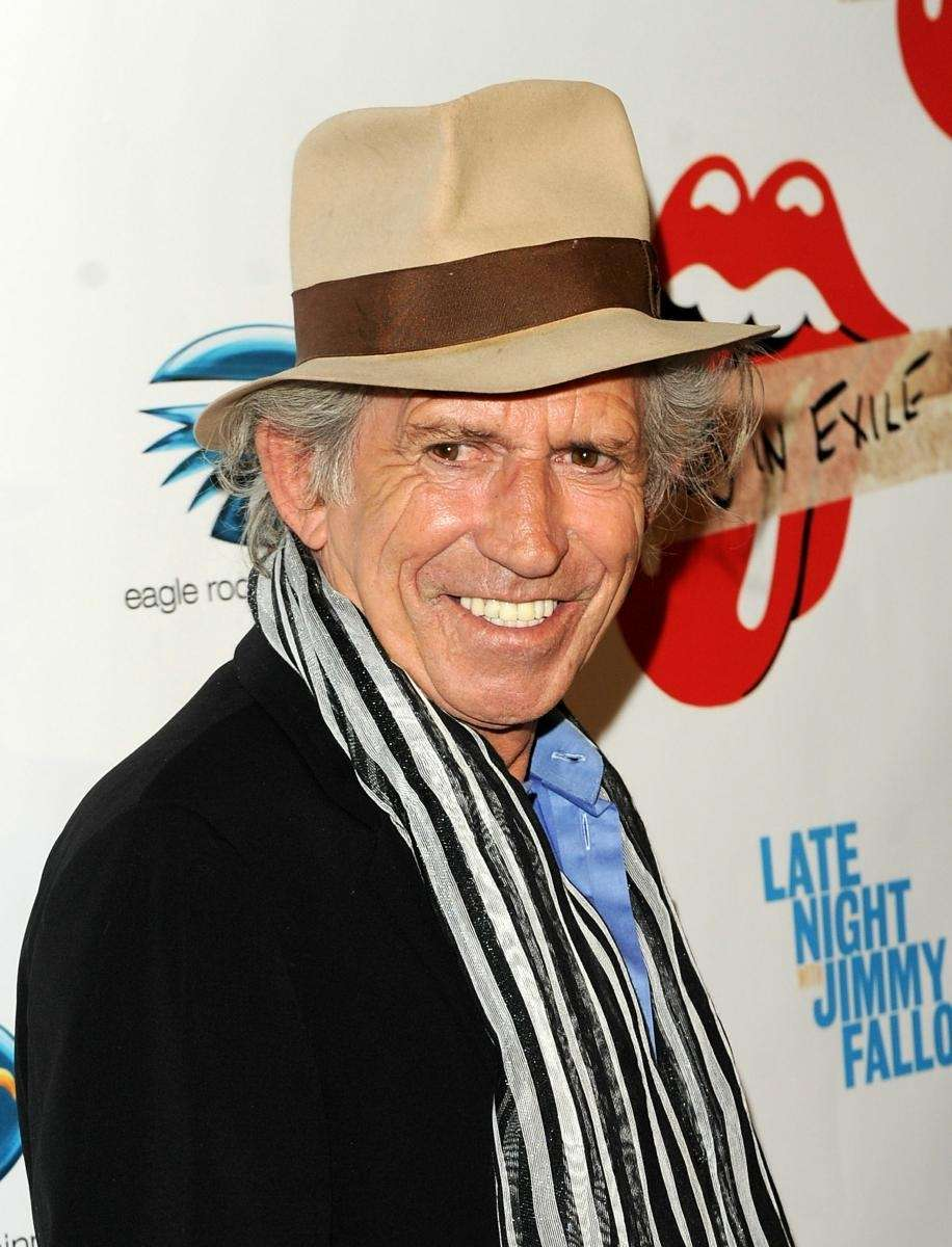 Musician Keith Richards of The Rolling Stones attends