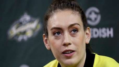 Seattle Storm's Breanna Stewart is helping to raise