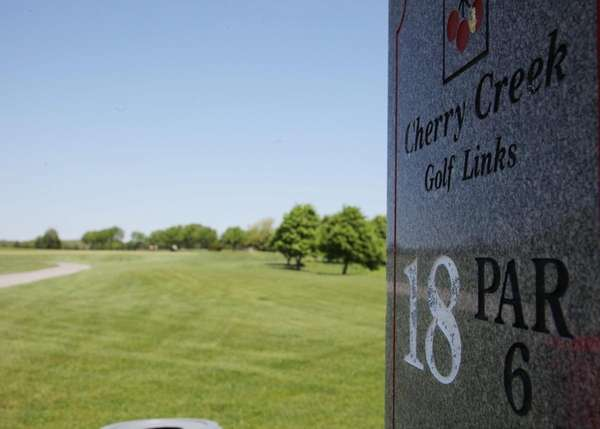 The 18th hole at The Links at Cherry