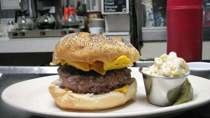 The cheeseburger at Winnie's Luncheonette in Bay Shore