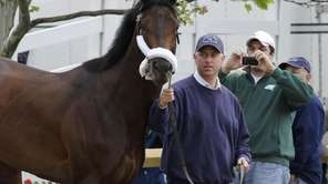 Trainer Todd Pletcher leads his Kentucky Derby winner