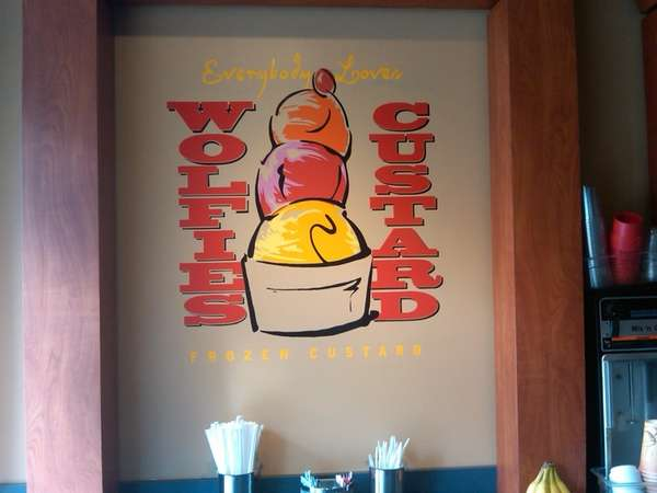Inside Wolfies Custard is at 42 Woodbine Ave.