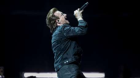 U2's Bono performs on Saturday at NYCB Live's