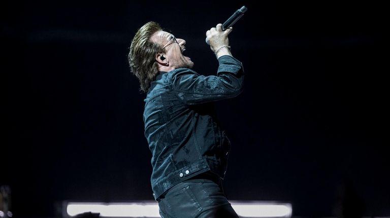 U2's Bono performs on Saturday at NYCB Live's