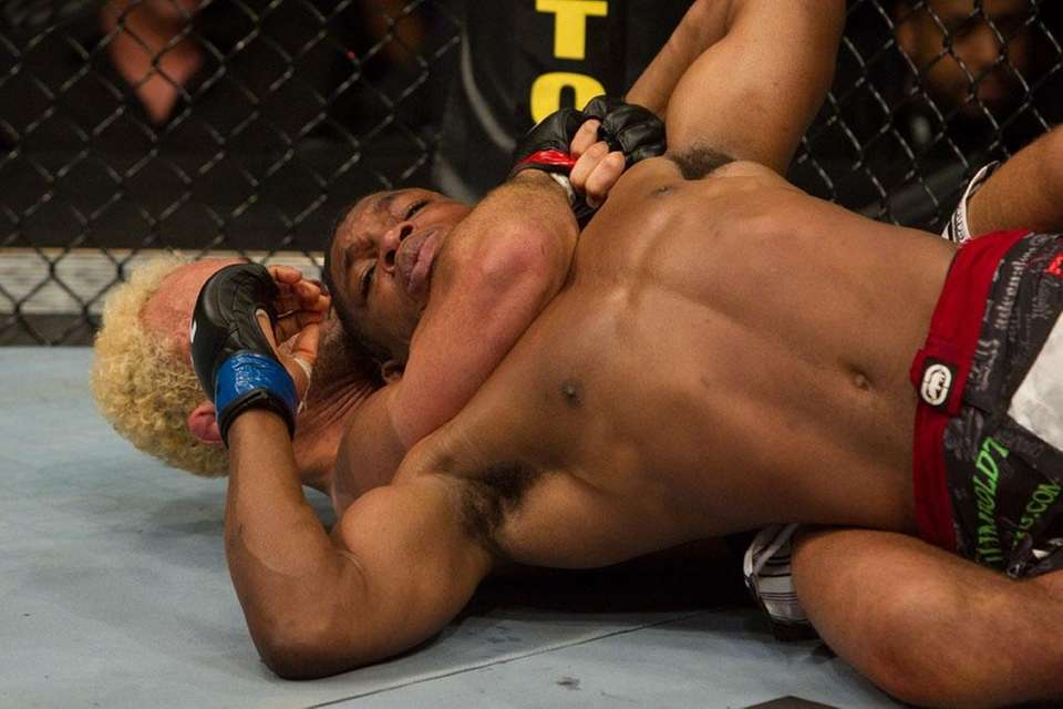 Paul Daley gets caught in a chokehold by