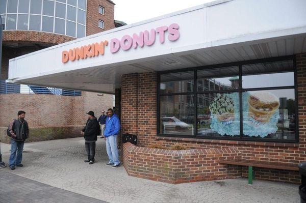 The Dunkin' Donuts at the Ronkonkoma train station