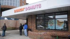 The Dunkin' Donuts at the Ronkonkoma train station