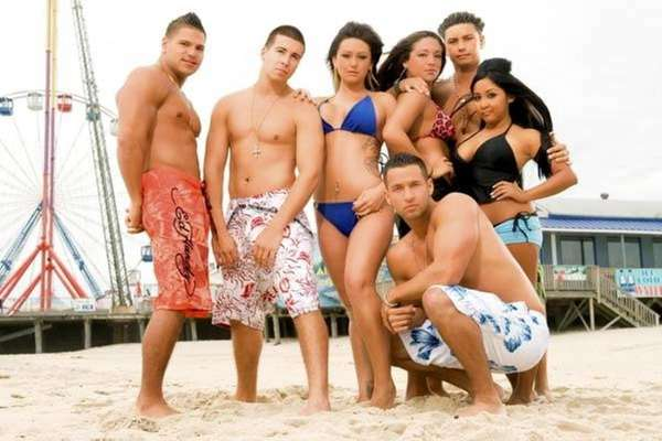 JANUARY 26, 2010---The cast of Jersey Shore is