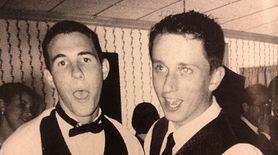 Phil Lanino and Thomas Mistler sing along to