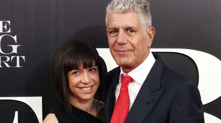 "Ottavia Busia-Bourdain and Anthony Bourdain attend ""The Big"