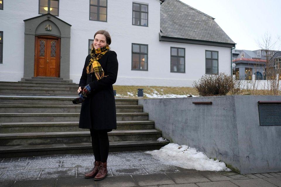 Katrin Jakobsdottir, Iceland's prime minister, poses for a