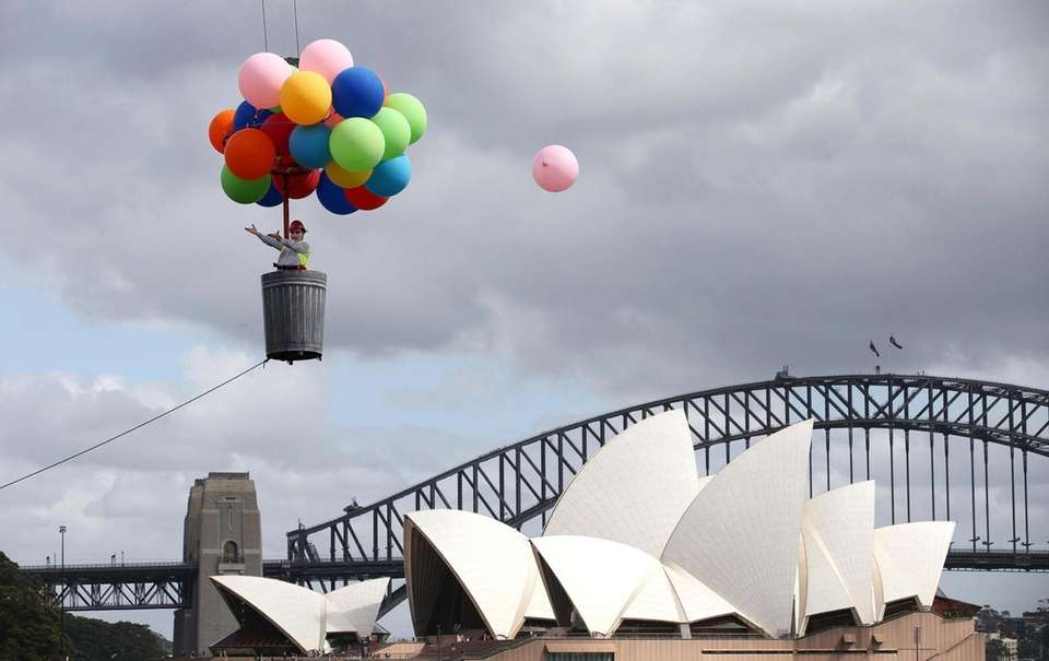 A balloon escapes as Opera Australia artistic director