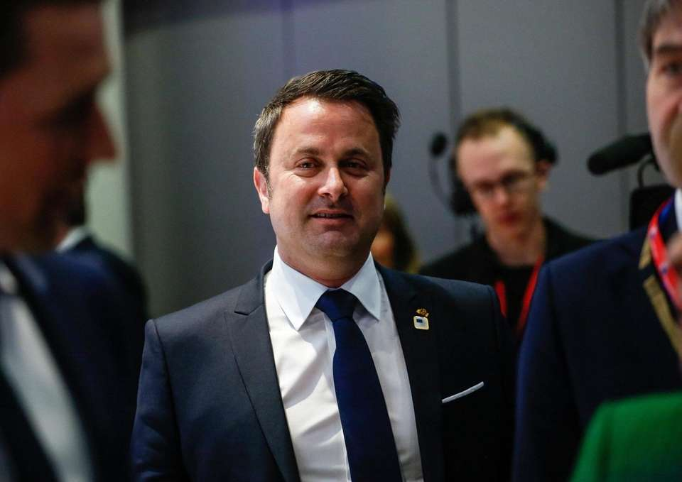 Xavier Bettel, Luxembourg's prime minister, arrives for an
