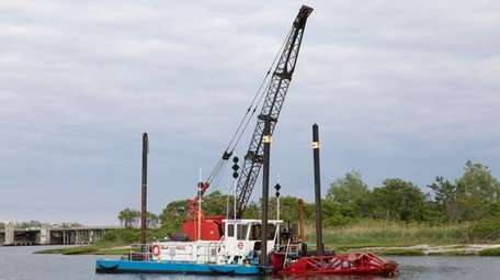 The dredging at Sea Dog Creek in Point